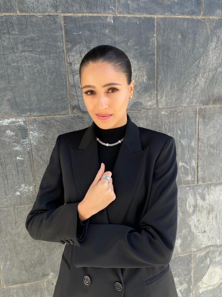 Lucy Ayoub wears Very Anna